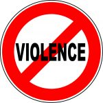 stop violence graphic