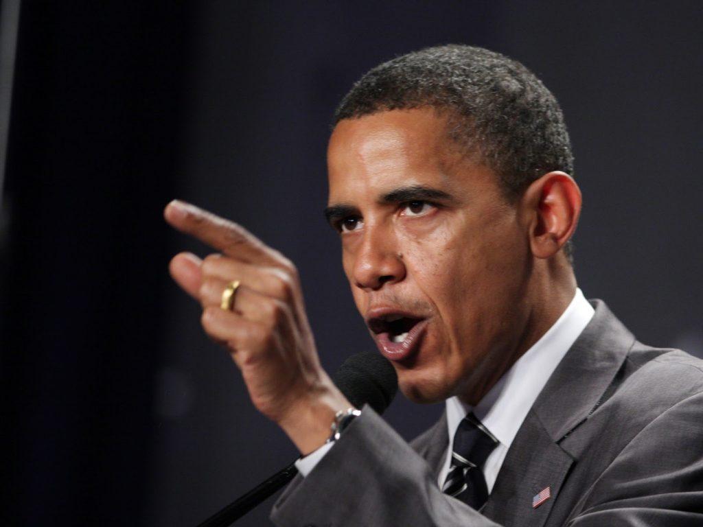 Obama talking tough